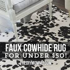 Cow Print Rugs Faux Cowhide Rug Black And White Roselawnlutheran