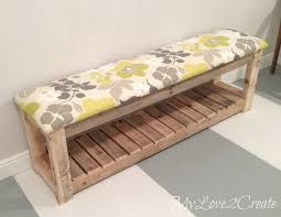 Plans To Build A Storage Bench by Best 25 Diy Bench Ideas On Pinterest Benches Diy Wood Bench