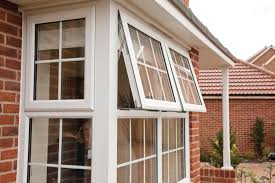 exterior bay windows lowes with natural wood bench for home natural brick siding with bay windows lowes and white trim board window for home exterior design
