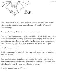 bat habitat science natural science interactive 1st grade