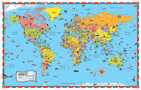 Map For United States by Rand Mcnally Illustrated World Map With Paperback Book Amazon