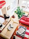 Black and Red Beachy Living Room - MyHomeIdeas.
