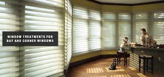 blinds shades for bay and corner windows pamperins paint window treatments for bay and corner windows by pamperins paint decorating in green bay