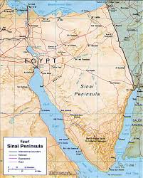Physical Map Of Africa by Map Of Sinai Peninsula Egypt Travel