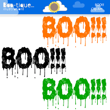 halloween vector art halloween clipart halloween clip art for instant download boo