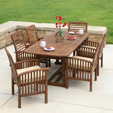 amazon com we furniture solid acacia wood patio chairs set of 2