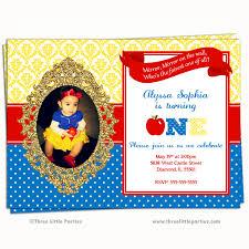 snow white invitation faux glitter snow white birthday party