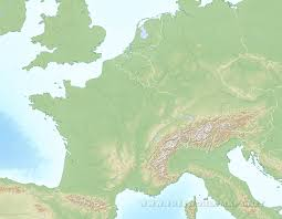 Blank Europe Map by Western Europe Physical Map