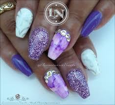 luminous nails purple lavender u0026 white acrylic u0026 gel nails