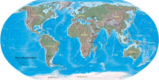 Physical Map Of South America by World Map Physical Map Of The World Nations Online Project