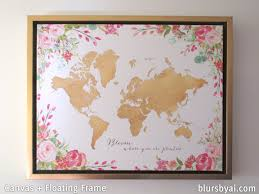World Map Canvas by Making A Diy Travel Push Pin Map With One Of Blursbyai U0027s Printable