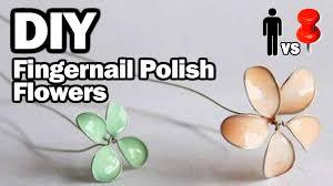 diy nail polish flowers man vs pin 11 youtube