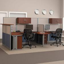 bush office in an hour melamine u shaped double workstation