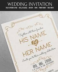 Editable Wedding Invitation Cards Free 50 Stylish Wedding Invitation Templates