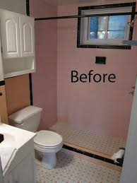 before u0026 after a bathroom goes from pinky peach to sleek and chic