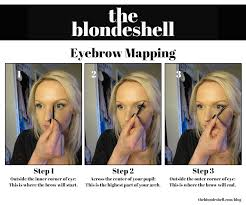 how to shape your eyebrows with eyebrow mapping the blondeshell