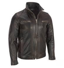 men s moto jacket black rivet leather faded seam moto jacket