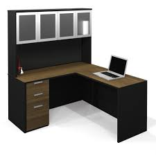 furniture simple corner desk with hutch and swivel chair design