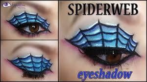 spider web eyeshadow halloween makeup tutorial by eyedolizemakeup