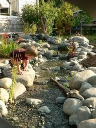 River Rock Garden Ideas Photograph Natural River Garden Pa - Backyard river design