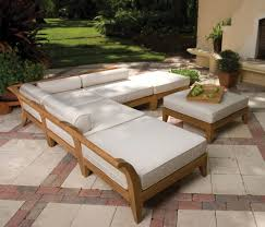 Outdoor Furniture Finish by Garden Amazing Outdoor Wooden Sectional Sofa Made With Natural
