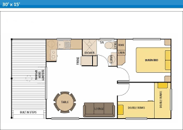 Caravan Floor Plan Layouts Holiday Cabins At Arno Bay Caravan Park On Eyre Peninsula In South