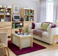apartment cheerful grey purple ikea small apartment living room