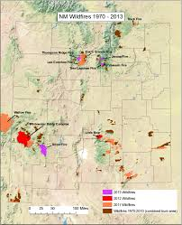 Unm Map New Mexico Wildfire Map Uptowncritters