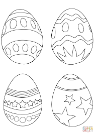 simple easter eggs coloring page free printable coloring pages