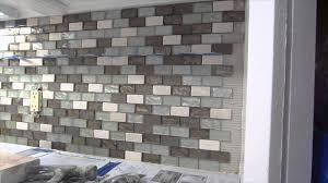 glass mosaic tile instalation time lapse youtube
