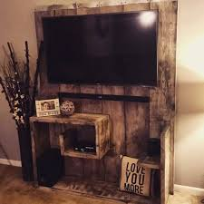 Home Center Decor Country Wall Entertainment Center With Recycled Pallets Master
