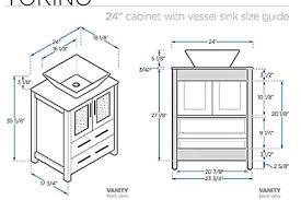 Height Of Bathroom Vanity Rough In Dimensions Bathroom Vanity - Height of bathroom vanity for vessel sink
