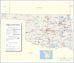 Time Zone Map United States by Oklahoma Map Oklahoma State Map Oklahoma State Road Map Map Of