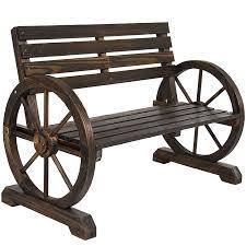 Best Wood Patio Furniture - amazon com best choice products patio garden wooden wagon wheel