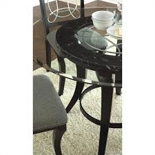 Steve Silver Dining Room Furniture Steve Silver Company Cayman Round Dining Table In Black With Glass