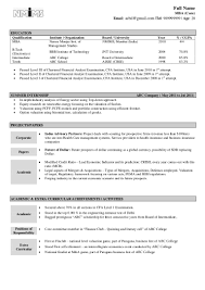 It Example Resume by Sample Resume Fresher
