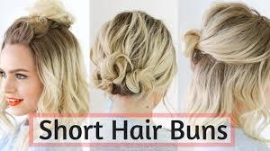 quick bun hairstyles for short medium hair hair tutorial