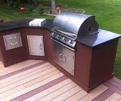 Diy Outdoor Kitchen Ideas Kitchen Beautiful Outdoor Kitchen Ideas With Black Granite Table