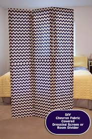 Room Divider Diy by Diy Room Divider Dressing Screen Chevron Fabric Project