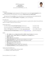 Java Resumes Php Developer Fresher Resume Resume For Your Job Application