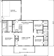 traditional style house plan 3 beds 2 baths 1400 sq ft plan 66