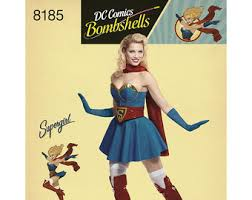 Supergirl Halloween Costume Supergirl Costume Etsy