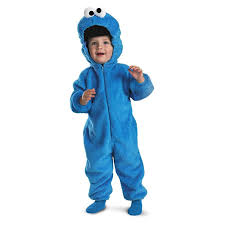 Halloween Costume Monsters Inc Amazon Com Sesame Street Baby Cookie Monster Plush Costume Clothing