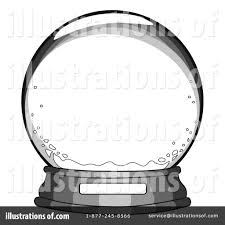 snow globe clipart black and white clipartxtras