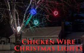 how to make lighted chicken wire christmas balls diy outdoor