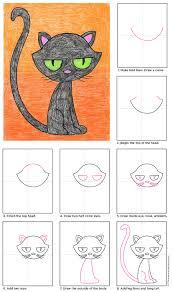 draw a black cat black cats cat and black