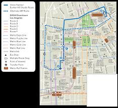 Grand Park Los Angeles Map by Commuter Express Union Station Bunker Hill Shuttle Ladot Transit