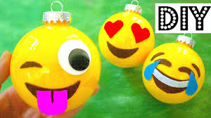 Homemade Christmas Decorations by How To Make Christmas Ornaments Emojis Diy Christmas