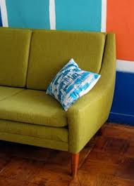 Danish Modern Furniture San Francisco by Reupholstered Vintage Dux Sofa I Adore The Way The Green Pops