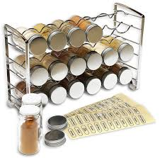 Best Spice Racks For Kitchen Cabinets Amazon Com Decobros Spice Rack Stand Holder With 18 Bottles And